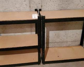 "$25 pair - 2 shelving units 36"" x 36"" x 16"""