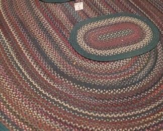 $50 - Braided rug set - the large one is 9'x7'