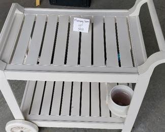 """$30 - Grossfillex garden cart. The top shelf is 17.5""""x26"""""""