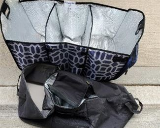$15 - 2 trunk bag coolers for groceries. The black one is Case Logic with a cooler in the middle.