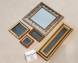 """$8 - 5 mirrors - the square mirror is 10"""" x 10"""""""