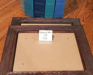 "$10 - Photo albums & frames. Frames are 19"" x 16"""