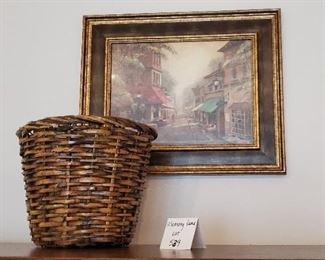 """$15 - 18"""" x 22"""" Print & a basket"""