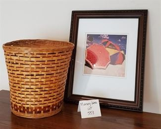 """$9 - 13"""" x 16"""" print and a basket"""