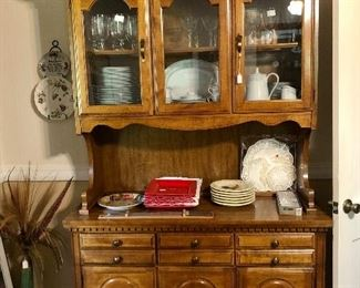 Vintage hutch, china, etched crystal and more!