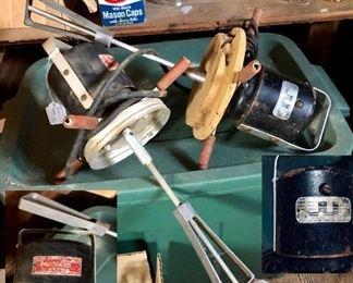 Vintage churns: Gem Dandy electric churn, Redmon & Co electric churn