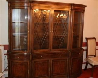 Very nice china cabinet.  Statement piece in anyone's home.
