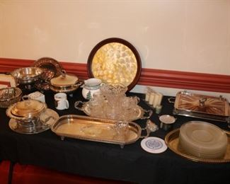 We have a lot of silver plate serving pieces
