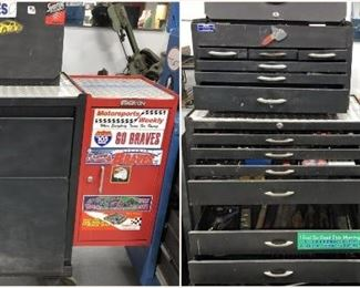 16 drawer rolling toolbox with tools