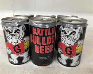 1980s Battlin Bulldog Beer 6pack