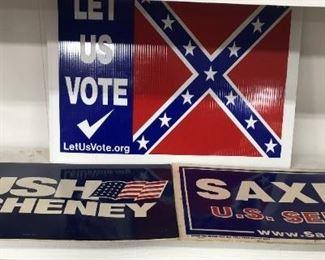Vintage Political Signs