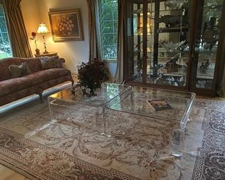 Glass Coffee Tables with Acrylic Base