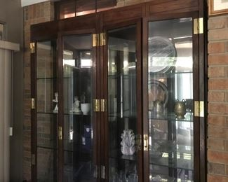 """Pulaski large curio cabinet   66""""L x 16""""D x 83""""D  $495"""