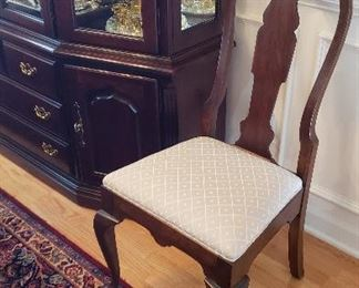 Thomasville china cabinet and side chair