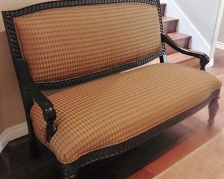 50% OFF. Great deal! Excellent conditon. Spencer settee-lovely! Beautiful condition. $575