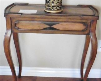 """Console table with side drawer. 28 wide, 31""""high, 13"""" deep.  $145"""