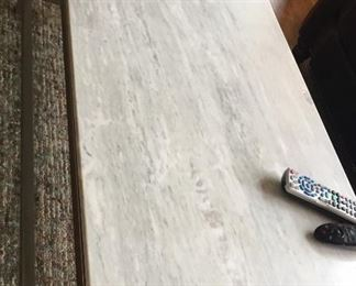 """Design Within Reach  Marble Top Coffee Table  48""""W x 24""""D x 17"""" H   $250 OBO (retails for $1500)"""