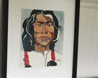 Wonderful - Native American Picture byL. Largura