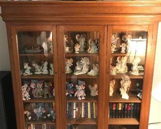 Vintage Maple Glass Cabinet
