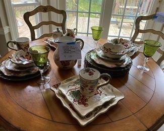 # 427 pc. Grape Dishes Plates, Bowls, Glasses & MORE!!                                                                         $100