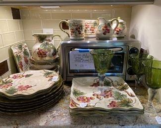 #427 pc. Grape Dishes Plates, Bowls, Glasses &                                                MORE!!                                 $100