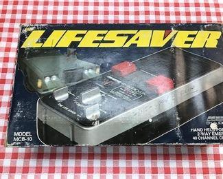 Lifesaver Hand-Held emergency CB radio.