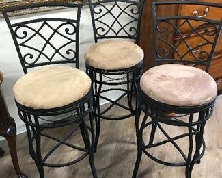 Set of 3 Swivel bar stools, $145