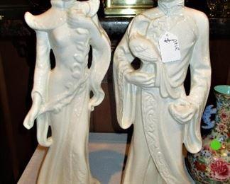Large vintage Oriental Figurines..