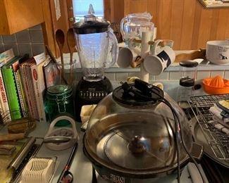 cookbooks, small appliances