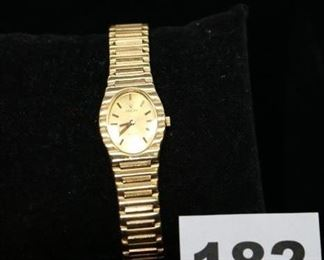 #A182   A Concord quartz 18k yellow gold POLO watch. Water resistant.  $5,000.00