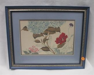 "23. Japanese 1946 Print of Risen Series, 17"" x 14"" inc framing, unsigned, $50."