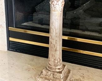 "Free Standing Stone Pedestal, 24""H.  $65"