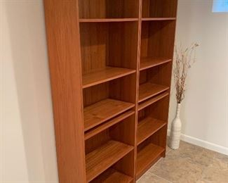 "Domino teak bookcases (one available) (24""W x 12""D x 72""H) - $300/each or best offer"