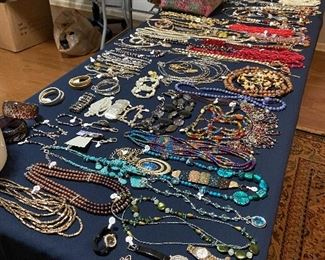 Unbelievable amount of current costume jewelry.  Many colors!  Lots from Chico's.