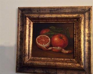 Framed Still-Life Painting.