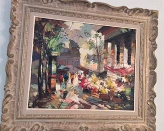 """Signed Ezelino Briante (Italian, 1901-1971) Oil Painting. Frame Size is 30"""" x 26""""."""