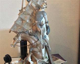 "Lladro ""Don Quixote and the Windmill"""