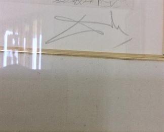 "Signed Salvator Dali, ""Pegasus"". Frame Size is 15"" x 17 1/2""."