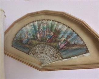 Antique Painted Fan
