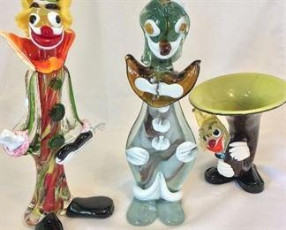 Murano Glass Clowns.