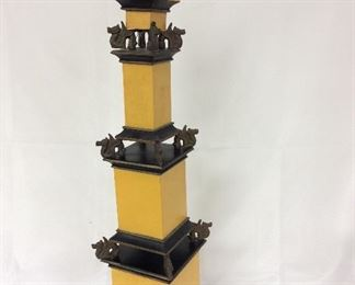"""Decorative Tower with Dragons, 29"""" Height."""