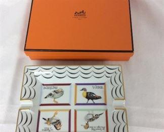 Hermes Ash Tray Canards Wild Ducks with Original Box.