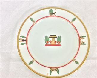 """Limoges Plate for Cartier, La Maison De Louis Cartier, 8 1/2"""" diameter."""
