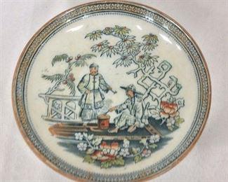 "B&H Painted Plate, 4"" diameter."