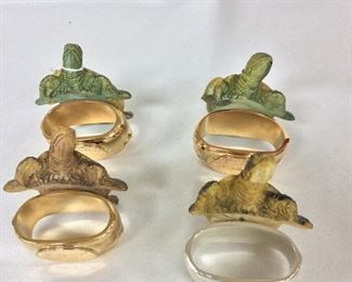 Hans Turnwald Signature Collection Turtle Napkin Rings.