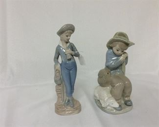 """Lladro, 8"""" H for tallest."""