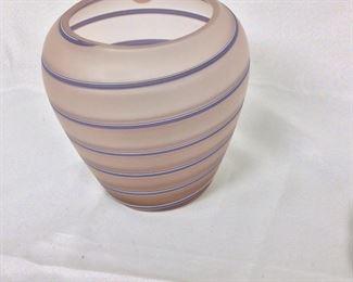 """Lavender Vase, 8"""" H."""