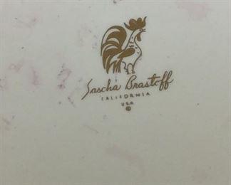 "Four Plates, Sascha Brastoff, 10 1/2"" diameter."