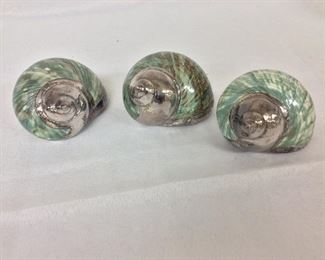 """Decorative Shells, 4"""" L. Il Mastro Argentiere Italy."""
