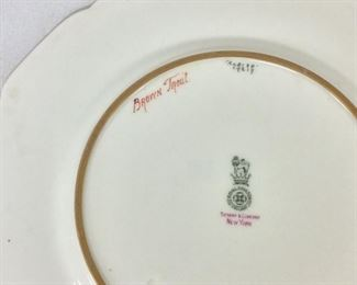 """Royal Doulton England, Tiffany & Company, New York, Antique """"Brown Trout"""" Plate."""